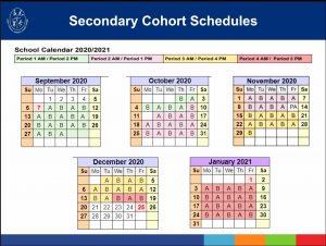 SECONDARY COHORT ACADEMIC CALENDAR 2020/21